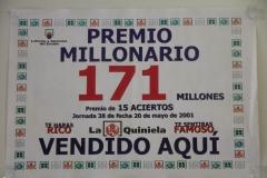 PREMIO MILLONARIO DE LA QUINIELA