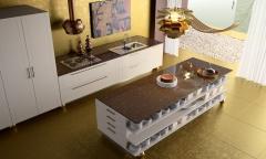 Cocina con encimera de cuarzo, modelo imperial