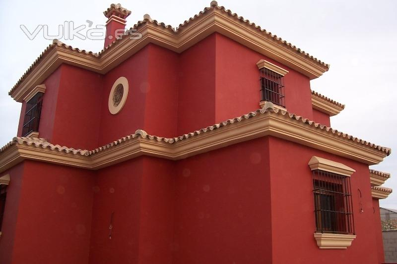 Foto fachada terracota y beige - Colores para pintar fachadas exteriores ...