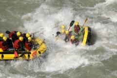 Rafting extremo en el los pirineos