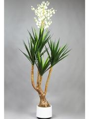 Agaves artificiales de calidad. agave sisalana artificial con flor oasisdecor.com