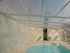 Cubierta piscina adosada deslizante