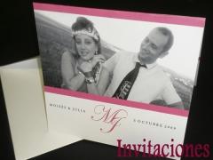 Modelo de Invitación de Boda con foto y personalizadas