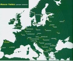 ROUCO YA�EZ - Mapa de nuestro ambito de actuaci�n de nuestro transporte (bajo consulta)