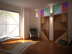 Interior en 3d oficina
