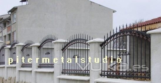 Arte metal studio for Rejas para frente de casas fotos