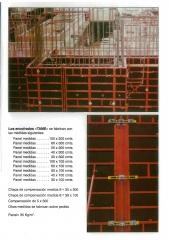 Los encofrados tame se fabrican en diversas medidas, en paneles:100, 60, 50, 40 y 30 x (300/100cm)
