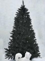 Articoencasa.com - abeto forest frosted color negro y perrito del artico con movimiento