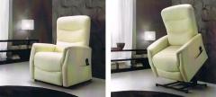 Sillón relax mecanizado piel -muebles en general-