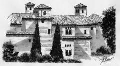Palacio del Dar Al Horra. Albaic�n. Plumilla.