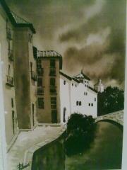 Carrera de Darro. Granada. Acuarela