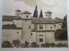 Palacio de Dar Al Horra. Albaic�n. Acuarela.