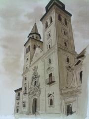Virgen de las Angustias. Granada. Acuarela.