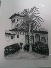 Jardines de El Partal. Alhambra. Plumilla.