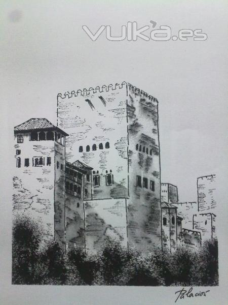 Torre de Comares. Alhambra. Plumilla.