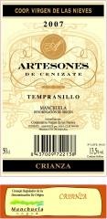 Etiqueta Artesones Crianza Tempranillo