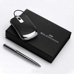 Set de bolígrafo y ratón balenciaga en caja de regalo. lote mínimo 25 unidades. ref szzbop5.