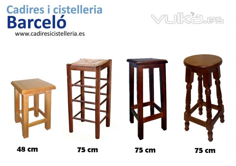 Sillas mesas y taburetes de madera cester a de mimbre en - Taburetes rusticos ...