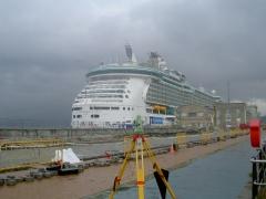 Replanteo en puerto trasatlánticos - vigo