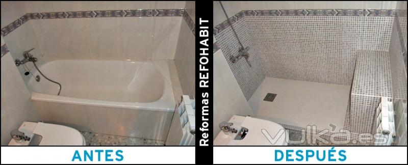 Reformas refohabit for Instalar plato ducha resina