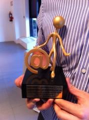 Premio otorgado a farmacia optica daza en categor�a de web. premia las mejores iniciativas online