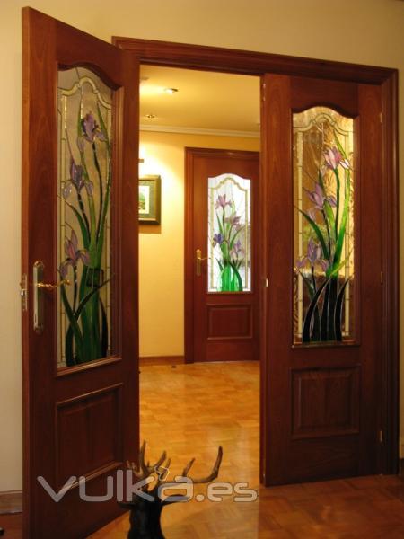 Foto conjunto de vidrieras en puertas - Vidrieras para puertas ...