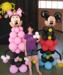 Mickey y minnie mouse, fin de curso colegio