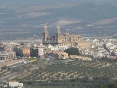 Jaen y su catedral, vista desde los ventanales