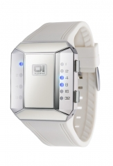 RELOJ SPLIT SCREEN ESMALTE BLANCO 01THE ONE