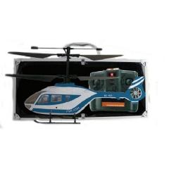 Helicoptero policia lee rc electrico con maletin de aluminio