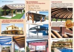 Pergolas y porches de madera en almeria murcia y malaga