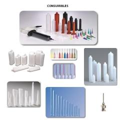 Gama de consumibles ( jeringas, �mbolos, cartuchos, agujas, mezcladores est�ticos)