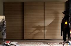 Composicion juvenil con armario 3 puertas correderas