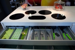 Placas de inducci�n integradas y cubertero de alta calidad.