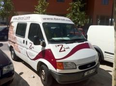 Rotulacion integral furgoneta vinilo zaragoza ford transit www.decoraconestilo.es