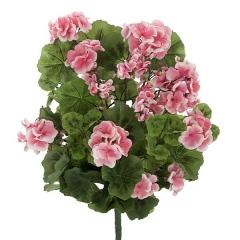 Planta artificial flores geranios salm�n 55 en lallimona.com