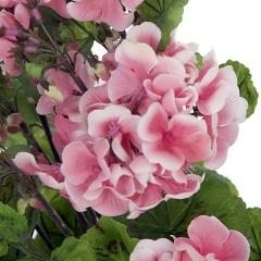 Planta artificial flores geranios salm�n 55 en lallimona.com (detalle 2)