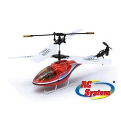 Mini helicoptero tracer 3 canales rojo rc system
