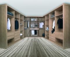 Armario vestidor: vestidor en forma de u
