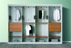 Interior de armario: vestidor combinado