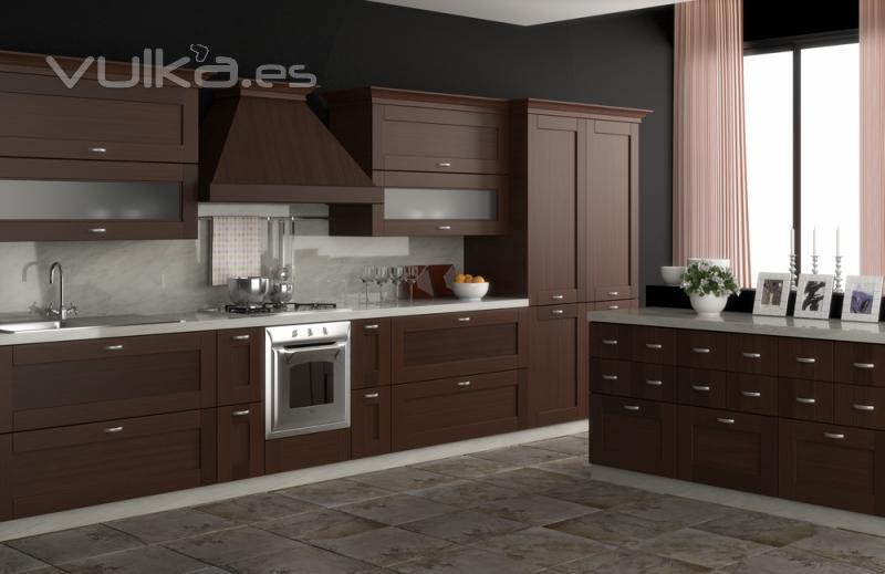 Foto muebles de cocina cocina en madera for Muebles cocina madera