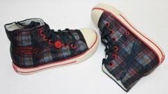 Zapatillas bota levi´s de tela en cuadro con cremallera, niño.