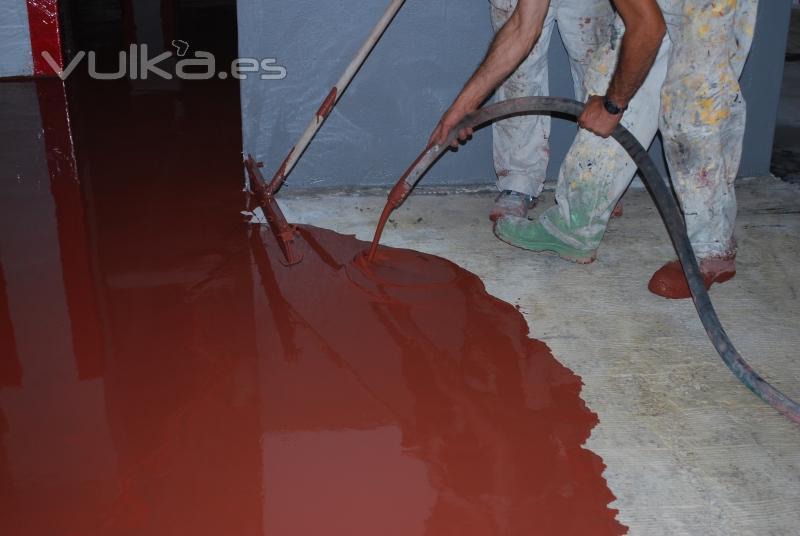 Foto mortero autonivelante cemart cemstyle 440 pavimento - Garajes de diseno ...