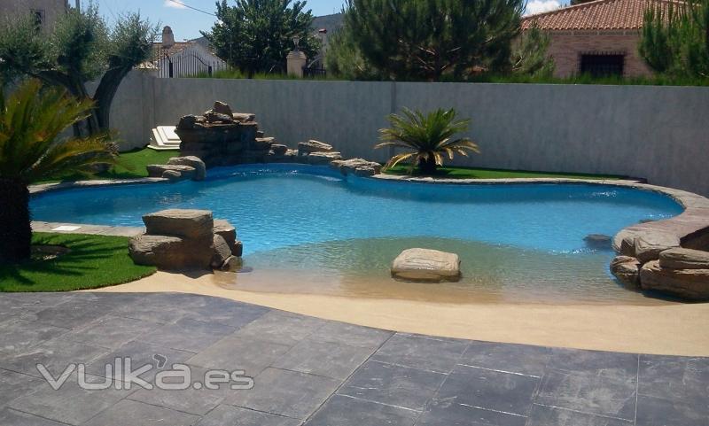 Foto piscina de arena for Piscina de arena construccion