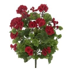 Planta artificial flores geranios rojos 55 en lallimona.com