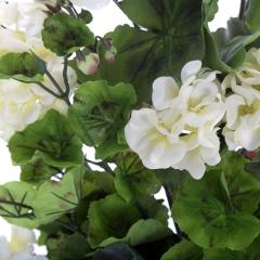 Planta artificial flores geranios blancos 55 en lallimona.com (detalle 2)