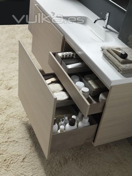 Muebles De Baño Karol: Cajones equipados para el mueble de baño más espectacular de Karol