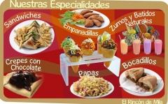 Variedad de platos, todos de cocina natural