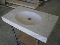 Lavabo en mármol de carrara