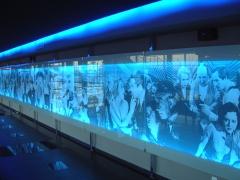 Luminoso gráfica en digital cines cc azahar castellón. rótulos cebra.